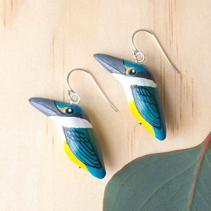 Sacred Kingfisher Earrings