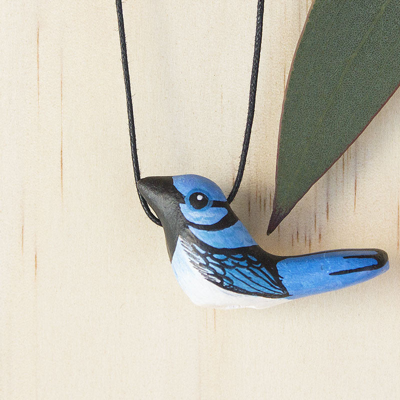 Superb Fairy Wren Whistle Necklace, Australian Bird Gift Souvenir