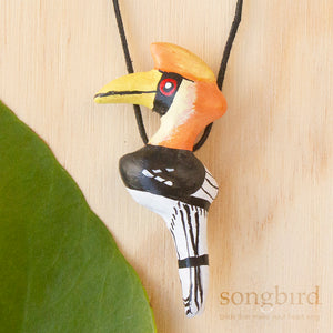 Great Hornbill Whistle Necklace, Jewellery & Gifts for Bird Lovers, Songbird Collection Asia