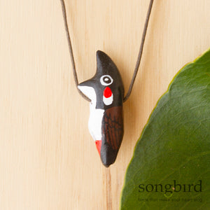 Red-Whiskered Bulbul Whistle Necklace, Jewellery & Gifts for Bird Lovers, Songbird Collection