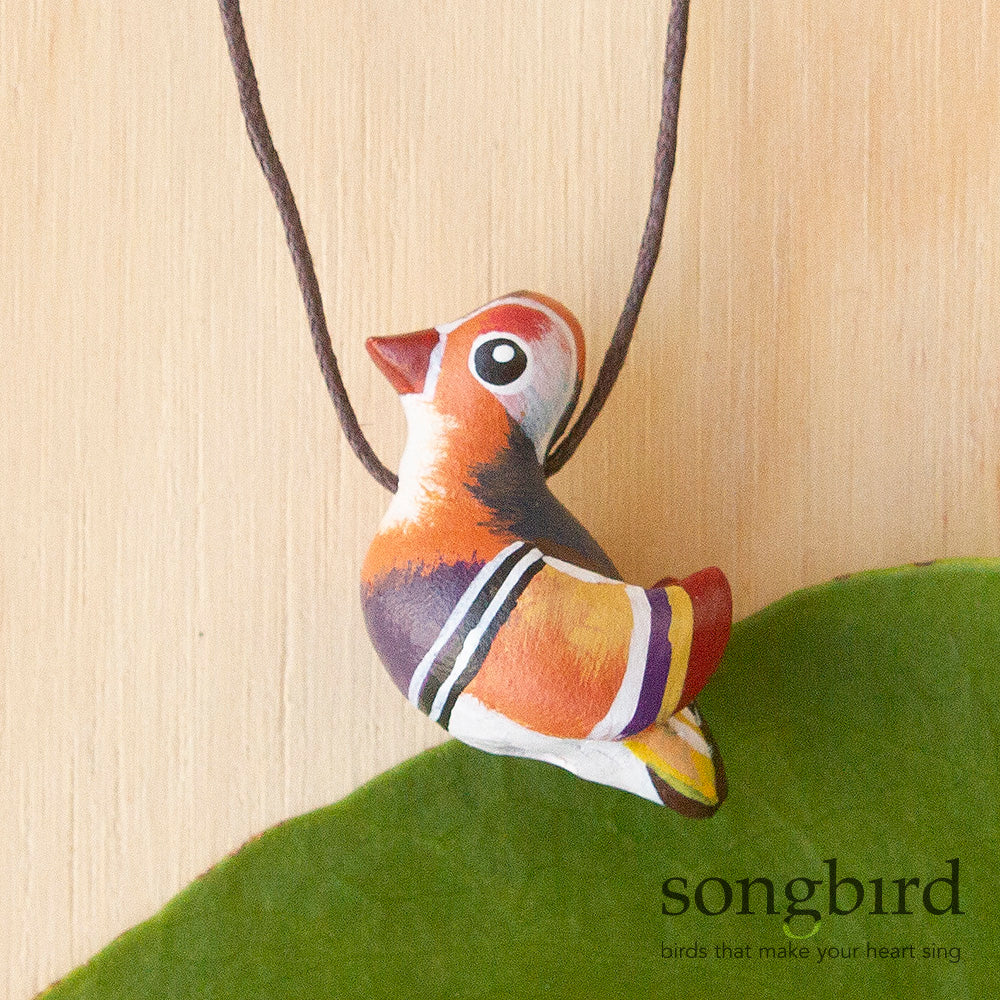 Mandarin Duck Whistle Necklace