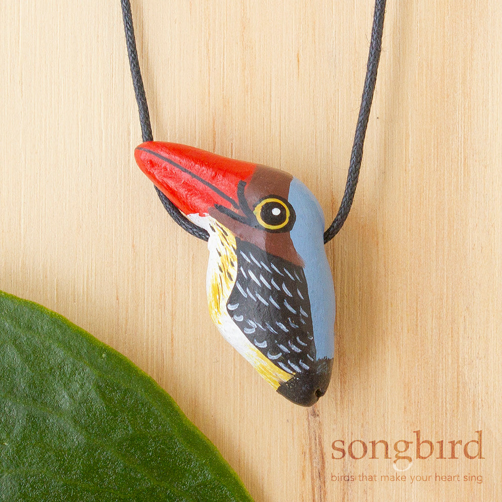 Banded Kingfisher Whistle Necklace, Jewellery, Gifts & Keepsakes for Bird Lovers, Songbird Collection