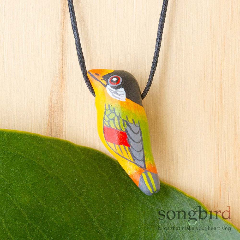 Silver-Eared Mesia Whistle Necklace, Jewellery, Gifts & Keepsakes for Bird Lovers, Songbird Collection