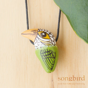 Lineated Barbet Whistle Necklace