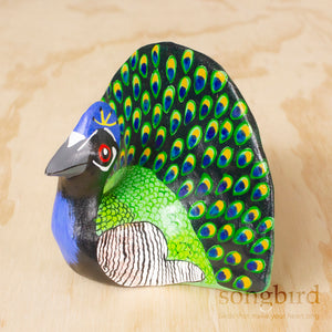 Peacock Paperweight Whistle by Songbird Collection, Jewellery & Gifts for Bird Lovers