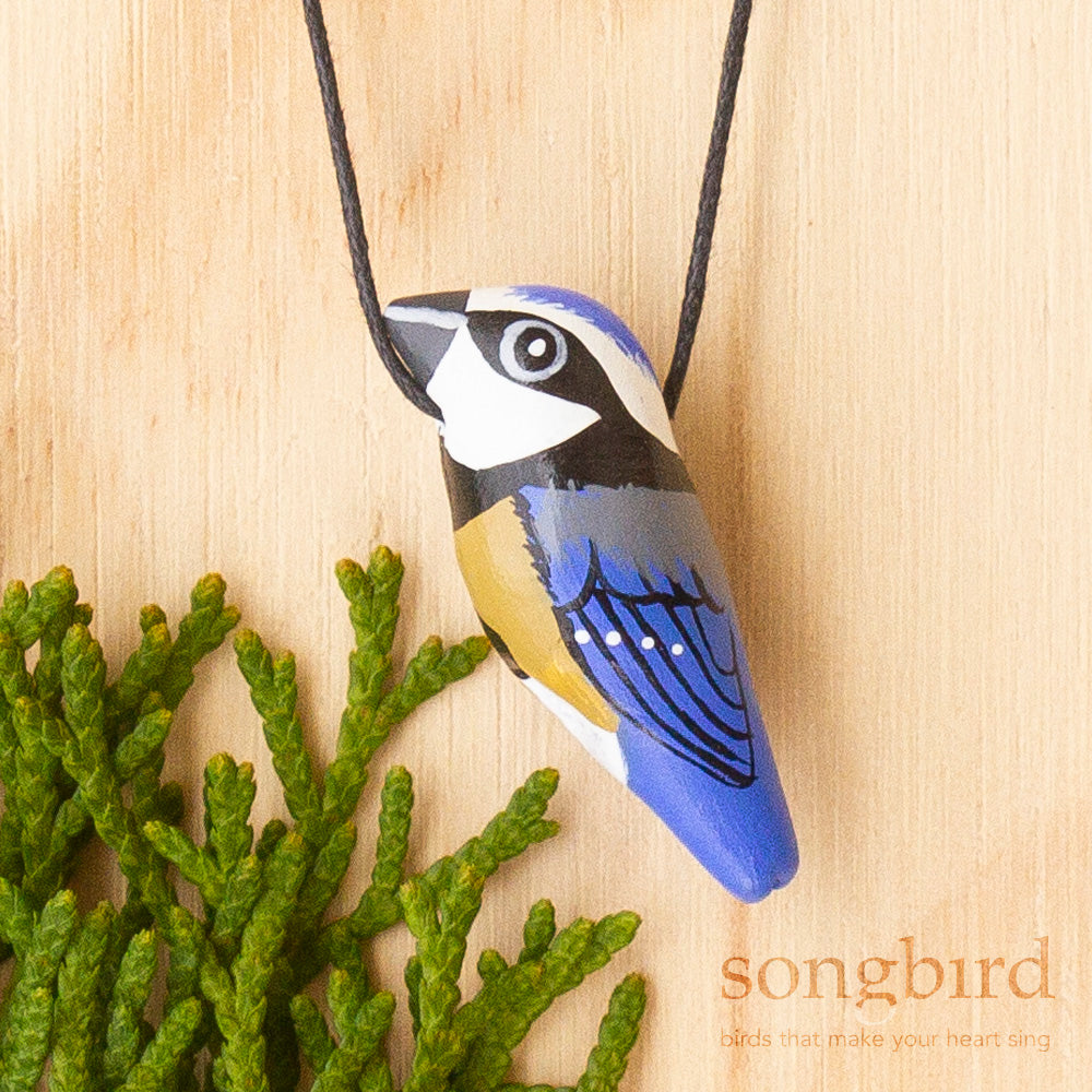 Blue Tit Whistle Necklace