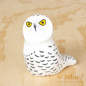 Snowy Owl Paperweight Whistle, Jewellery & Gifts for Bird Lovers, Songbird Collection Australia