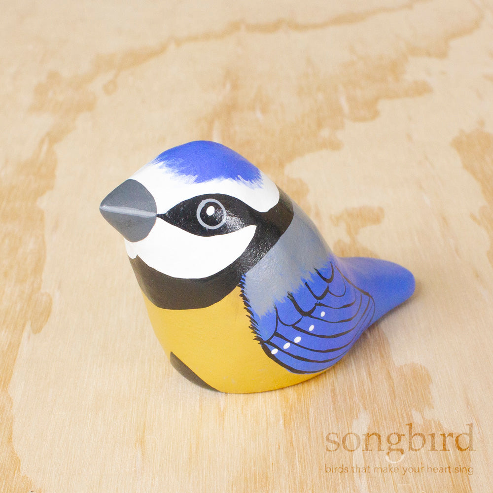Blue Tit Paperweight Whistle, Jewellery and Gifts for Bird Lovers, Songbird Collection Australia