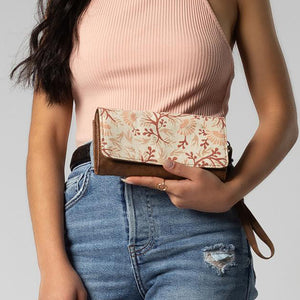 Autumn Flowers Vegan Leather Wallet by JOYN Bags, Songbird Australia