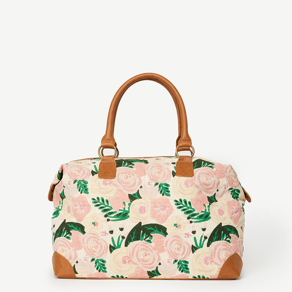 Blissful Blossom Overnight Bag by JOYN
