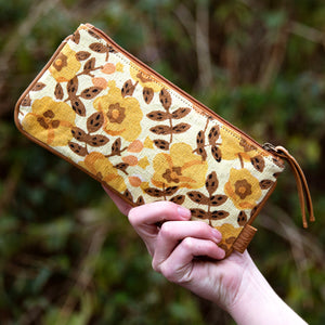 Golden Blossom Pouch