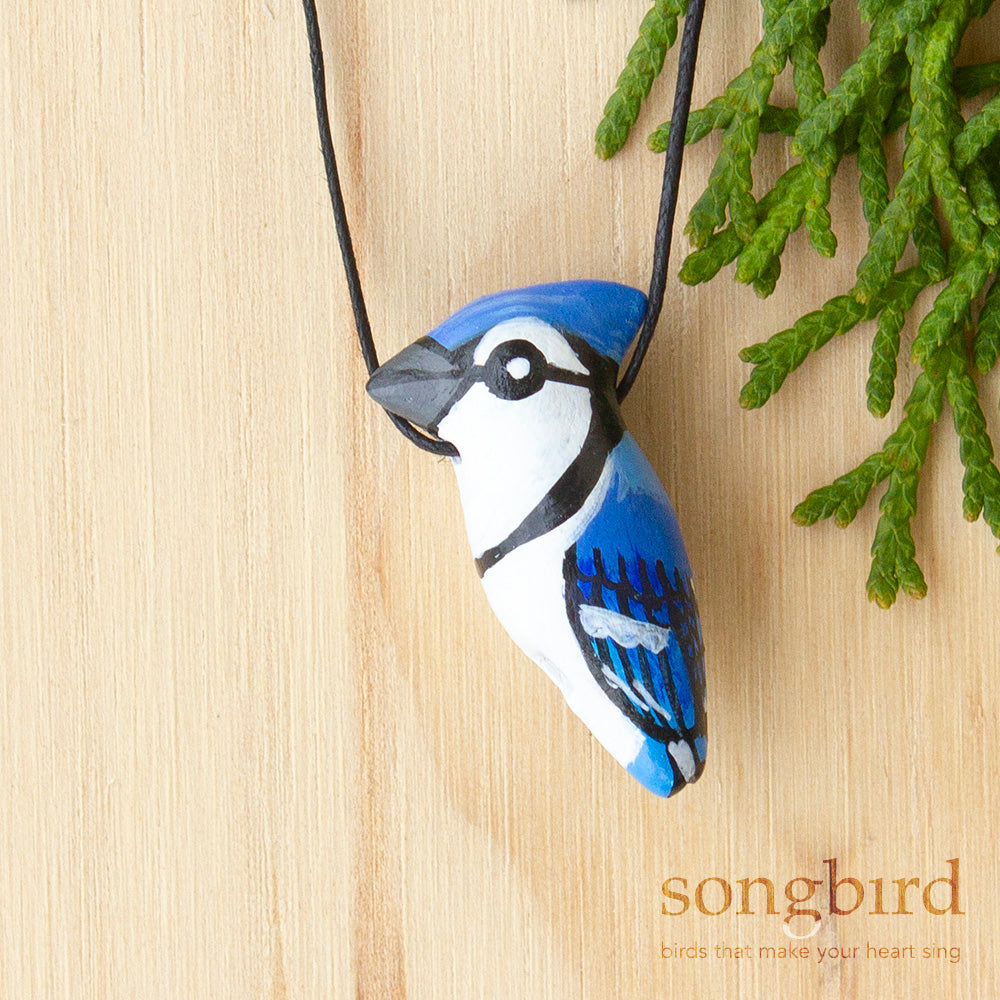 Blue Jay Whistle Necklace, Jewellery & Gifts for Bird Lovers, Songbird Collection America