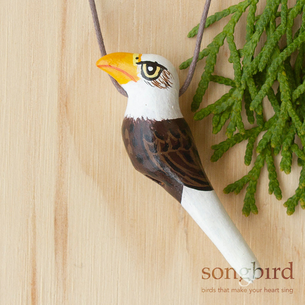 Bald Eagle Whistle Necklace, Jewellery & Gifts for Bird Lovers, Songbird Collection America