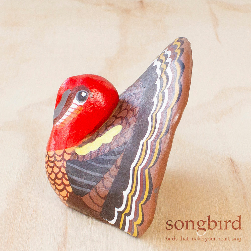 Wild Turkey Paperweight Whistle, Gifts & Jewellery for Bird Lovers, Songbird Collection America
