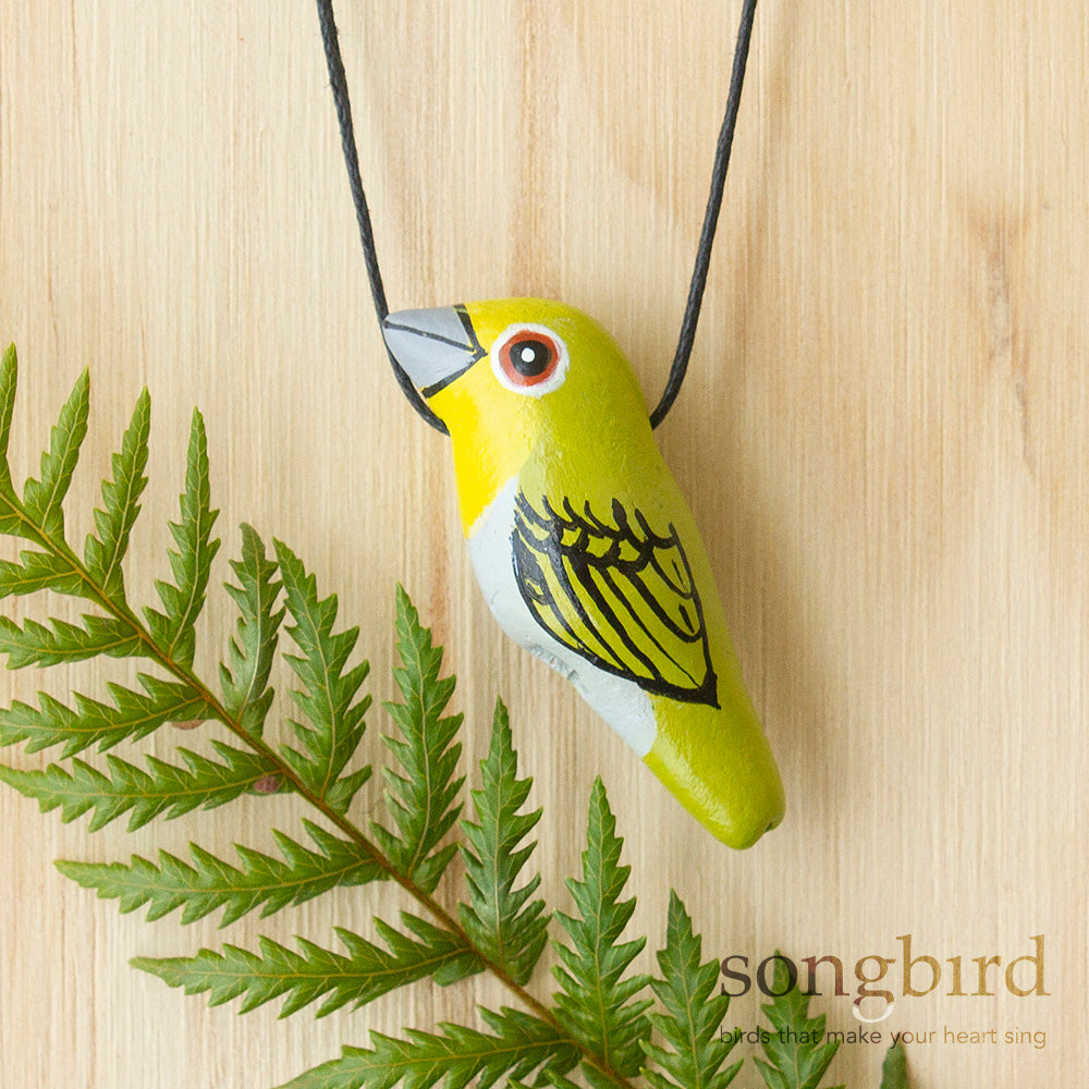 Tauhou Whistle Necklace, Jewellery & Gifts for Bird Lovers, Songbird Collection Global, New Zealand