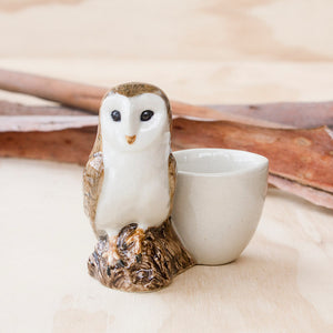 Barn Owl Egg Cup by Quail Ceramics UK, Songbird Collection, Kitchen, Dining, Gifts, Birds