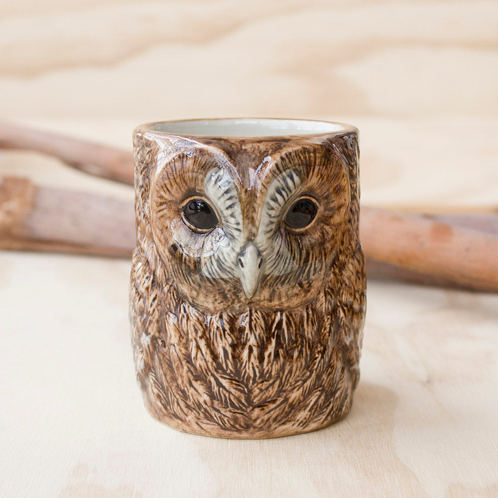 Tawny Owl Pencil Pot by Quail Ceramics UK, Songbird Collection Australia, Kitchen, Dining, Gifts, Birds