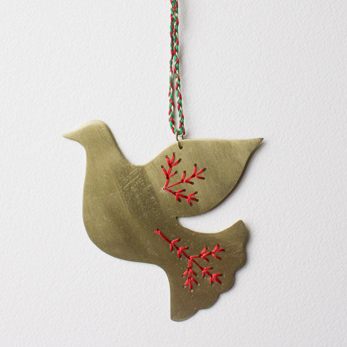 Peacebird Hanging Decoration, Brass