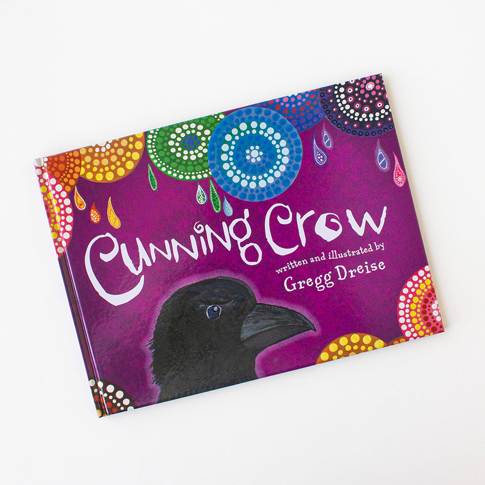Cunning Crow by Gregg Dreise, Jewellery & Gifts for Bird Lovers, Songbird Collection Australia