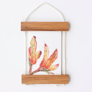 Reclaimed Hardwood Card Frame by Cornerblock Studio, Songbird Collection Australia