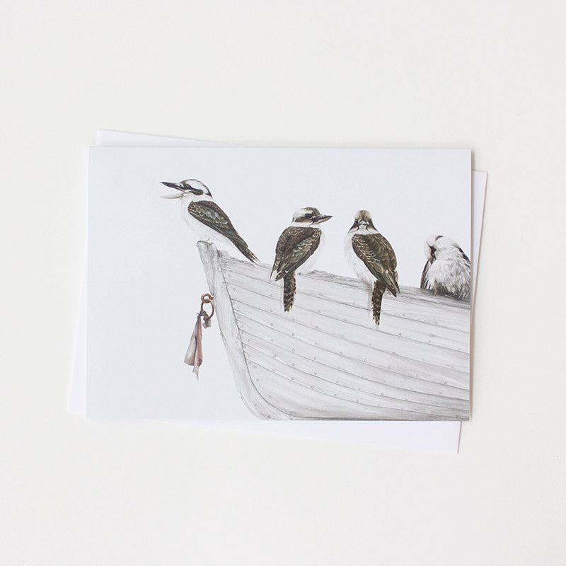 Laughing Kookaburras Art Card