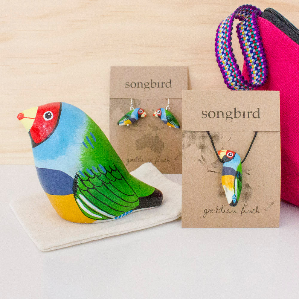 Gouldian Finch - Signature Songbird Gift Set