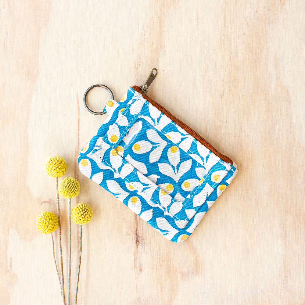 Blue Bloom Pouch by JOYN, Jewellery & Gifts for Bird Lovers, Songbird Collection