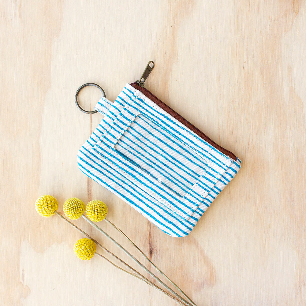 Blue Stripe Pouch by JOYN, Jewellery & Gifts for Bird Lovers, Songbird Collection