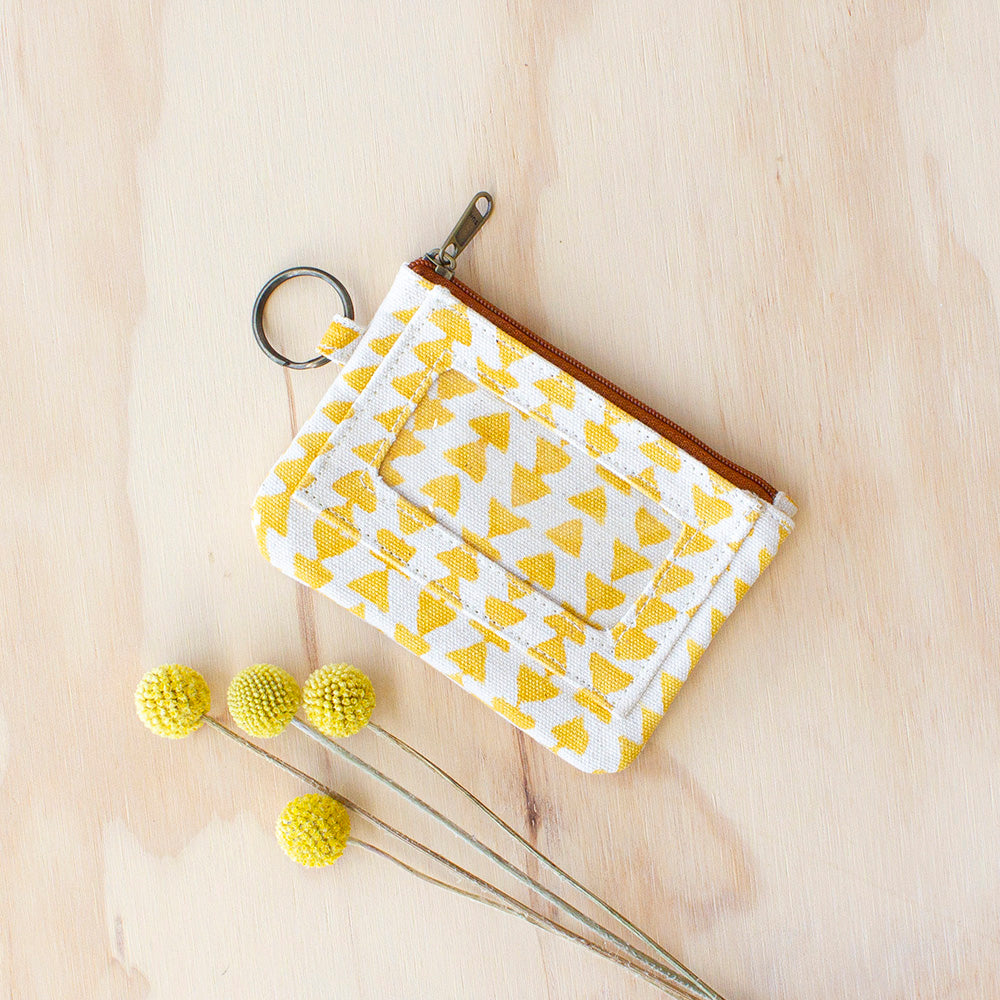 Yellow Triangle Pouch