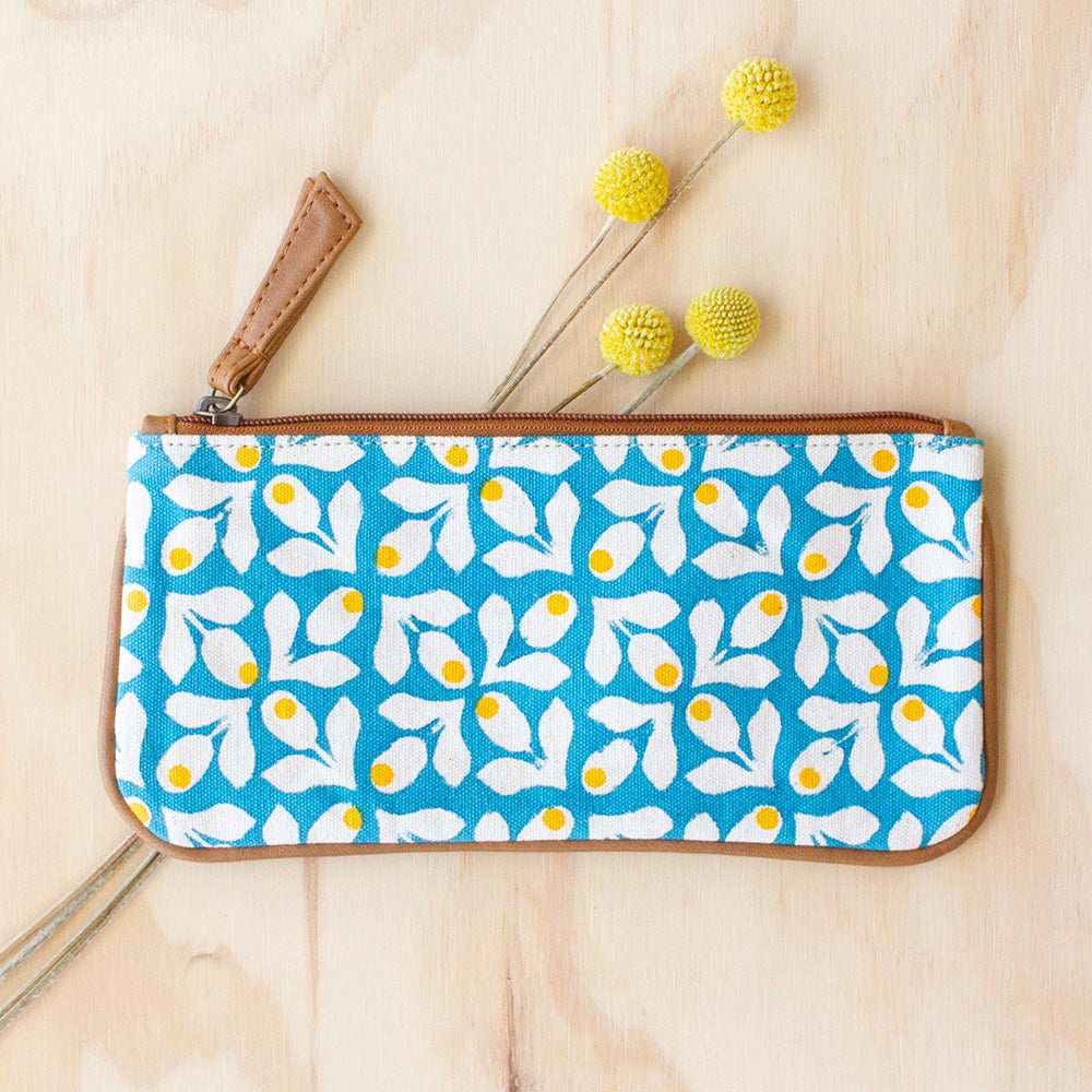 Blue Bloom Purse by JOYN, Jewellery & Gifts for Bird Lovers, Songbird Collection