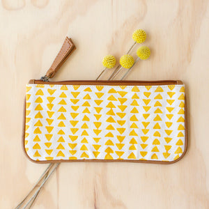Yellow Triangle Purse by JOYN, Jewellery & Gifts for Bird Lovers, Songbird Collection