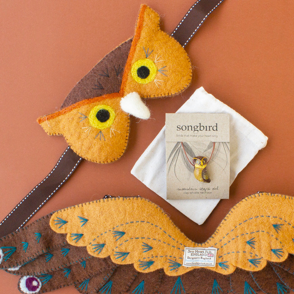 Owl Dress-up Set, Jewellery & Gifts for Bird Lovers, Songbird Collection Australia