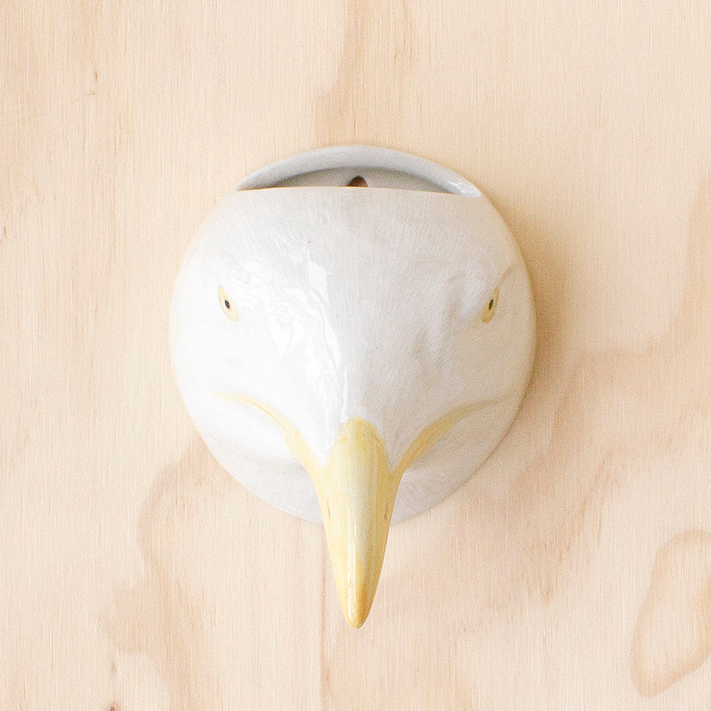 Herring Gull Wall Vase by Quail Ceramics, Jewellery & Gifts for Bird Lovers, Songbird Collection Australia