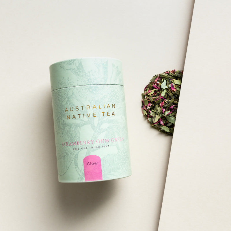 StrawberryGum Green - Australian Native Tea by Rabbit Hole Tea Bar, Songbird Collection Australia