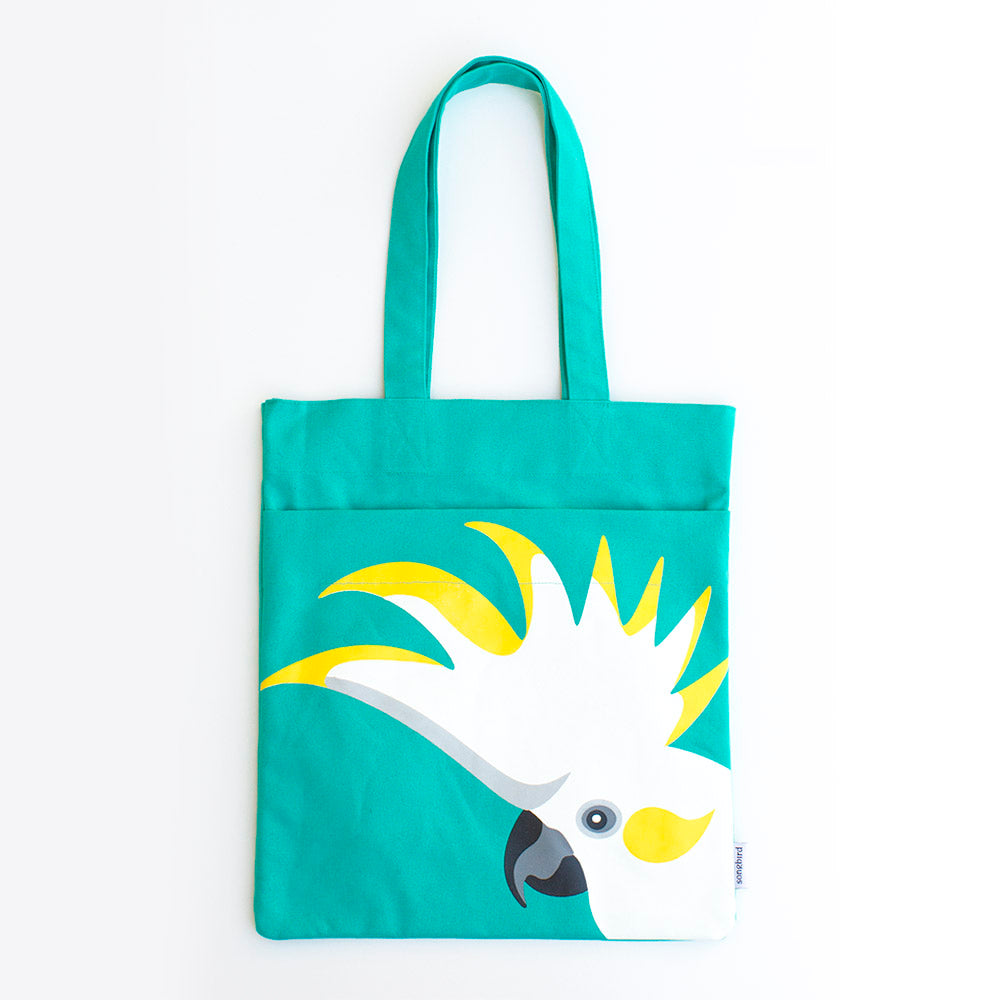 Sulphur Crested Cockatoo Pocket Tote