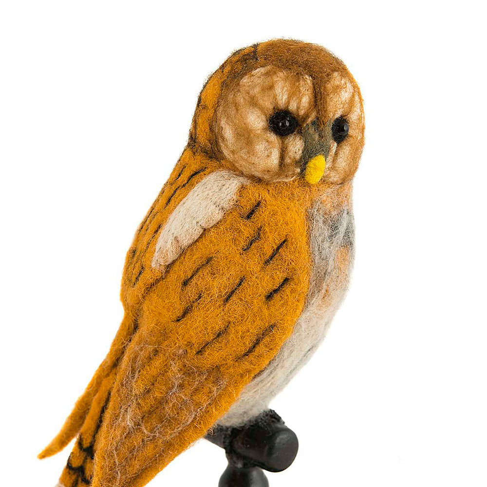 Perching Tawny Owl, by Sew Heart Felt UK, Songbird Collection Global, gift for lovers of birds and beautiful things