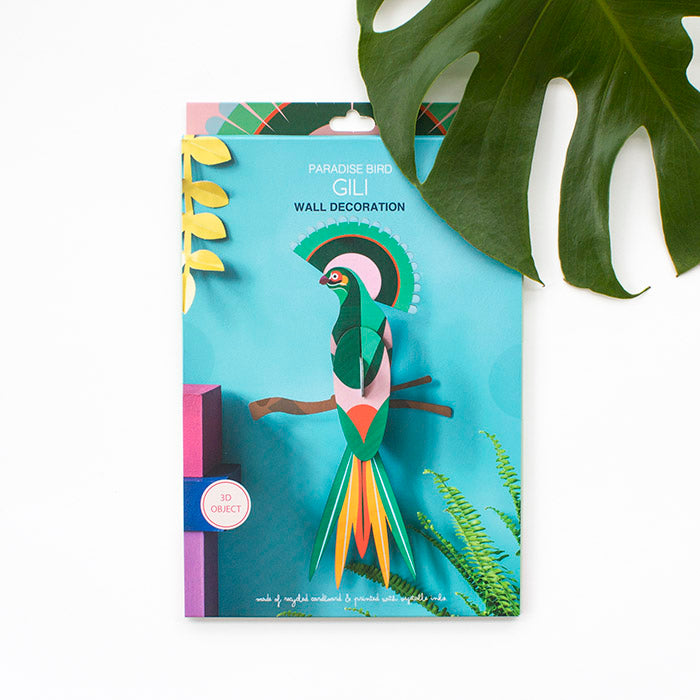 Bird of Paradise Wall Art -Gili, Recycled Paper, Designed in the Netherlands by Studio Roof, Songbird Australia