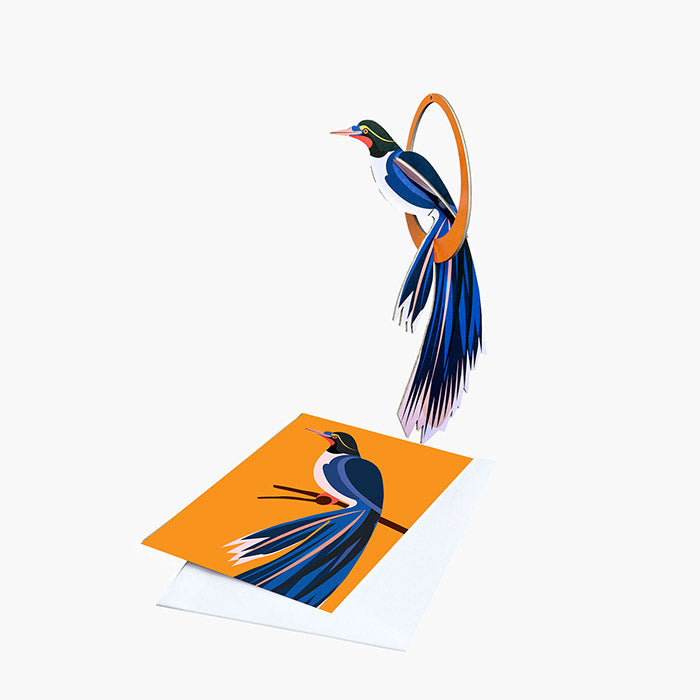 Bird of Paradise Card & Mobile - Flores, Recycled Paper, Designed in the Netherlands by Studio Roof, Songbird Australia