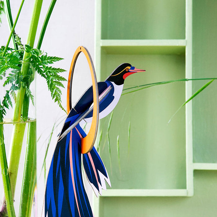Bird of Paradise - Flores, Gift Card & Mobile,, Recycled Paper, Designed in the Netherlands by Studio Roof, Songbird Australia