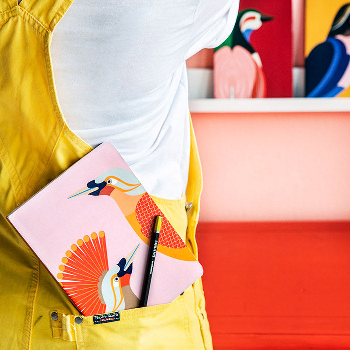 Bird of Paradise - A5 Notebook, Recycled Paper, Designed in the Netherlands by Studio Roof, Songbird Australia