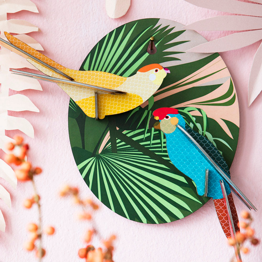 Pretty Parakeet Wall Art by Studio Roof, Jewellery & Gifts for Bird Lovers, Songbird Collection Australia