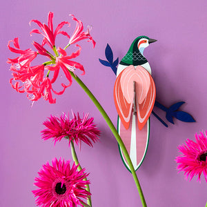 Bird of Paradise Wall Art - Rani, Recycled Paper, Designed in the Netherlands by Studio Roof, Songbird Australia