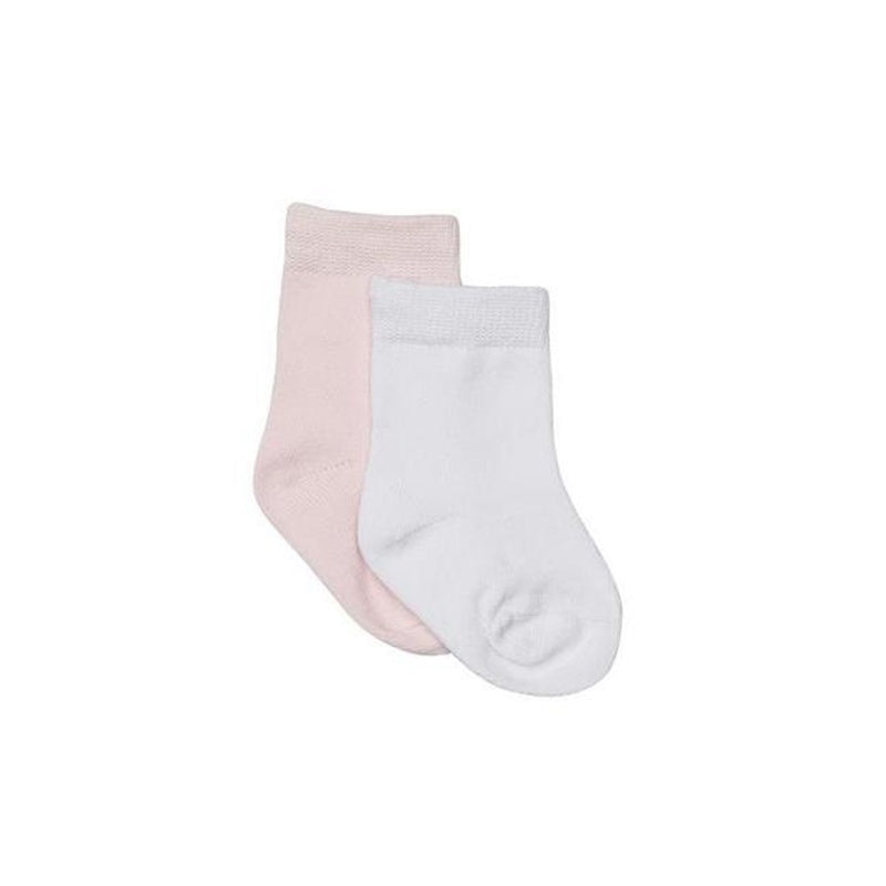 Marquise 2Pk Baby Socks - Pink / White