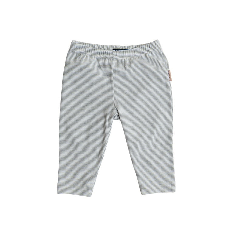 Love Henry Baby Girls Leggings - Grey Stripe