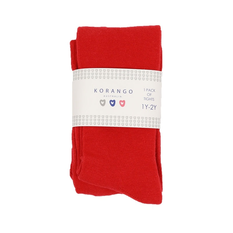 Korango Cotton Blend Tights - Red