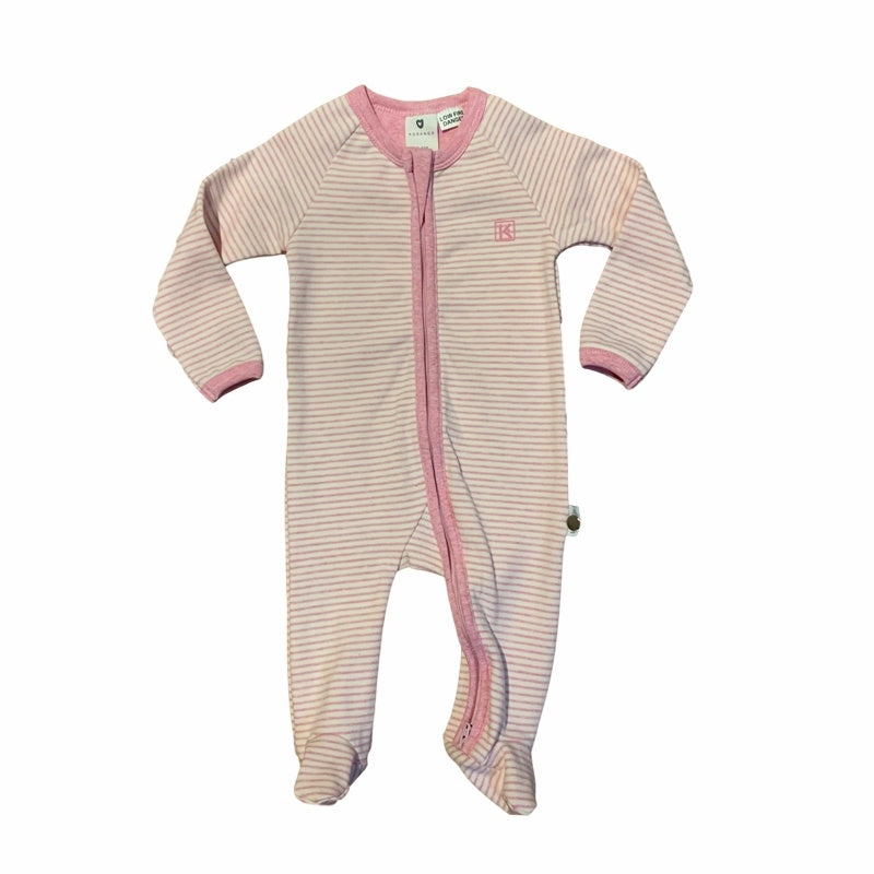 Korango Stripe Winter Romper - Pink