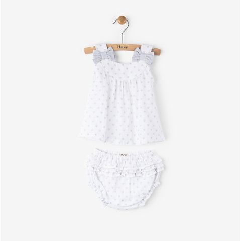 Grey Hearts Mini Bloomer Set