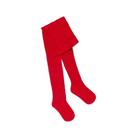 Marquise Chunky Rib Tights - Red