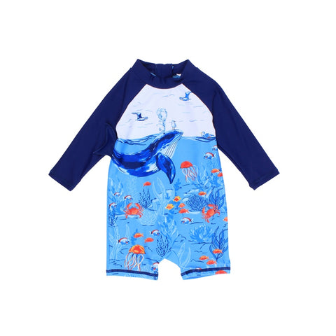 Cody Whale LS Sunsuit