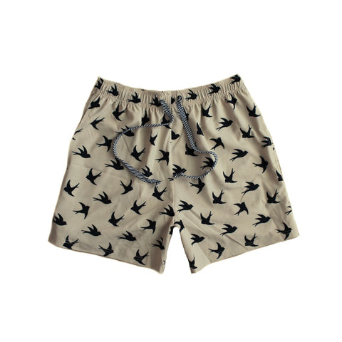 Duke of London Mens Swallow Print Boardies